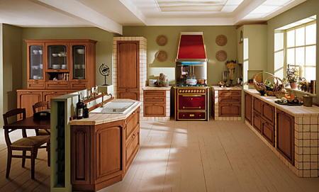 Cocina Denali Cocina-comedor-de-estilo-clasico-lube-cucine