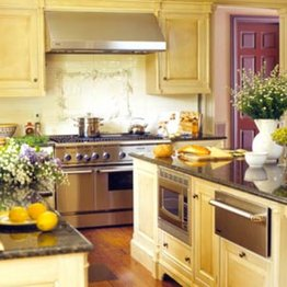 luxury kitchen equipment Retro Kitchen Interior