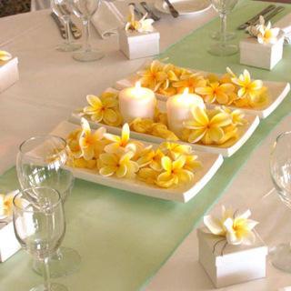 Centro de mesa para una cena rom ntica - Cena romantica con velas ...