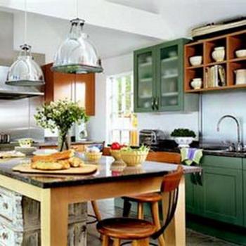 Decoraci n e ideas para mi hogar 10 cocinas peque as para for Cocina comedor chico