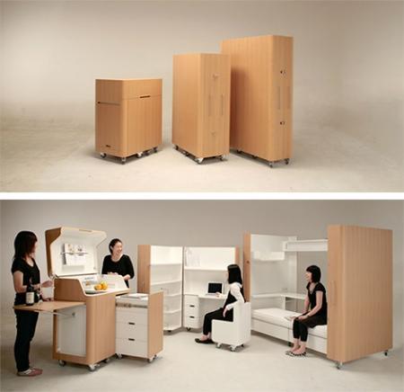 Muebles plegables para espacios pequeños