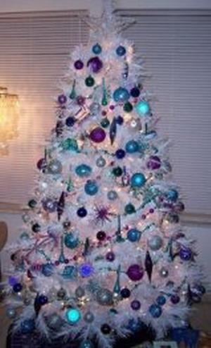 Rboles navide os de color blanco - Como adornar un arbol de navidad blanco ...