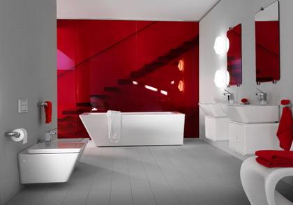 Baños & Estilos: Modernos baños en color rojo
