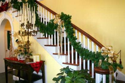 decoracion navideña escaleras