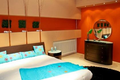 Dormitorios modernos - Habitaciones color naranja ...