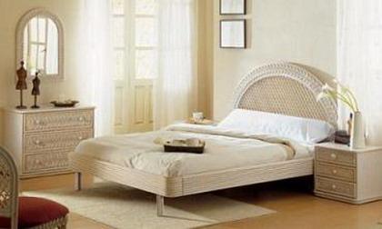 Dormitorios con muebles de ratt n for Muebles de rattan