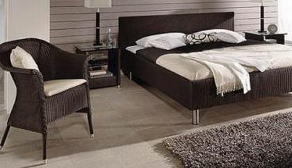 Dormitorios con muebles de rattán