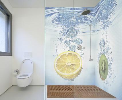 baños modernos con murales en 3d - decoactual