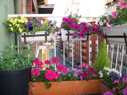 Terrazas encantadoras for Jardineras para balcones