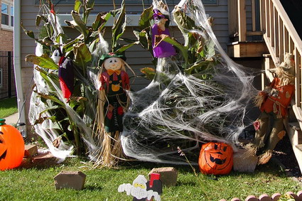 Decorando para halloween for Jardin halloween