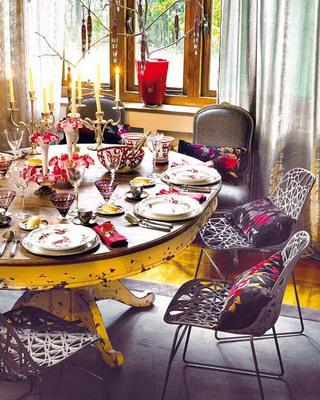 Detalles para una mesa navideña