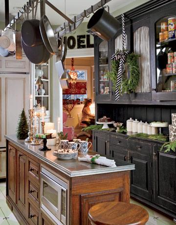Bellas cocinas navideñas