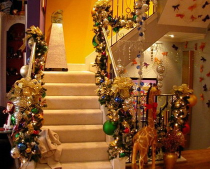Bellas escaleras navideñas