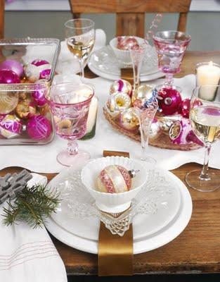 mesa navidad moderna