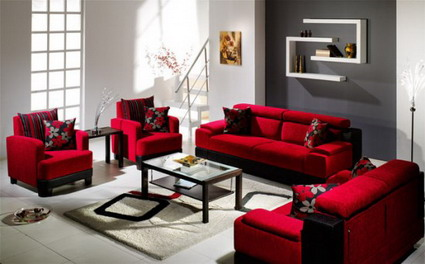 Ideas para un living rojo parte ii - Decoracion en rojo ...