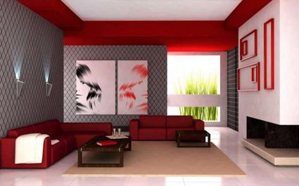 Ideas para un living rojo. Parte II
