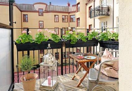 Balcones decorados - Muebles para terraza pequena ...