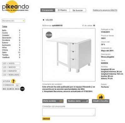 Encuentra muebles de Ikea en Pikeando