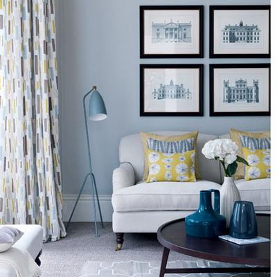 Diseños para un living azul