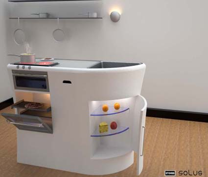 Cocinas futuristas - Aprovechar espacio cocina ...