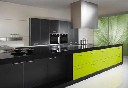Cocinas verdes for Cocinas verdes modernas