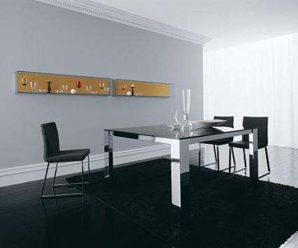 Comedores minimalistas for Modelos de comedores de vidrio