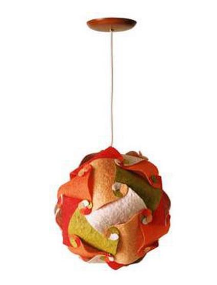Lámparas de materiales reciclados