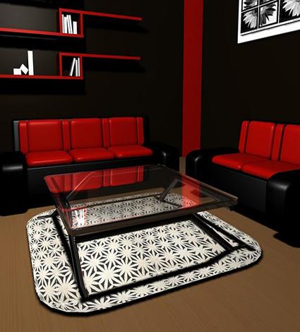 Living color rojo y c mo combinarlo for Cuarto negro y rojo