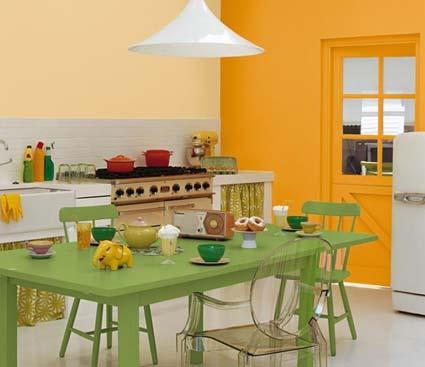 Colores naranja para tu hogar for Colores de pared para cocina