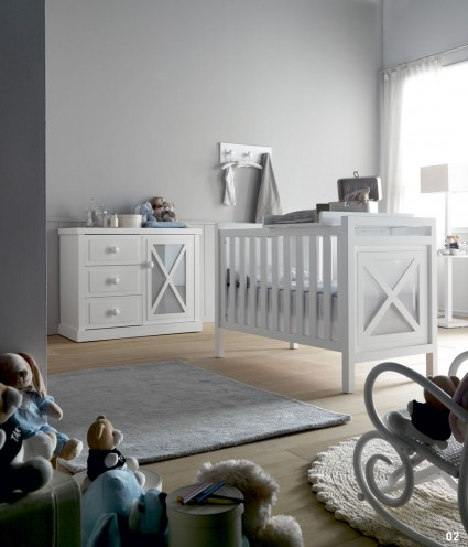 Decoraci n infantil for Habitacion bebe moderna