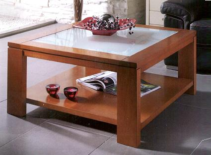 Muebles for Diseno de mesa de madera con vidrio