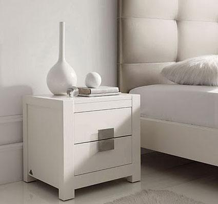 Mesas de noche modernas for Mesillas blancas