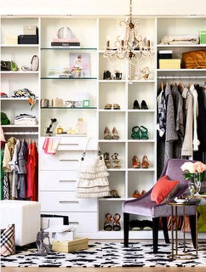 El vestidor como parte de la decoración de tu habitación