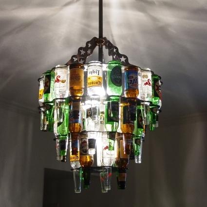 Reciclando para fabricar lámparas