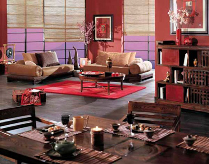 La decoraci n china en tu sal n for Decoracion piso big bang theory