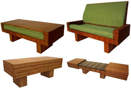 Muebles modernos y funcionales