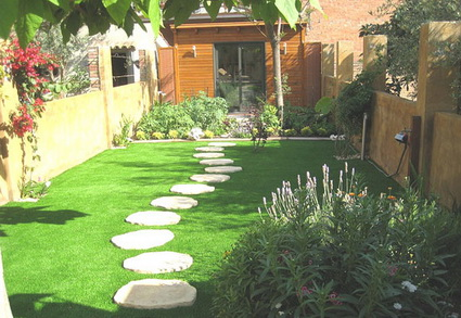 Patios for Jardines de cesped artificial