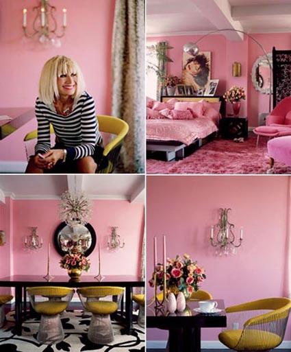 Color rosa for Todo casa decoracion