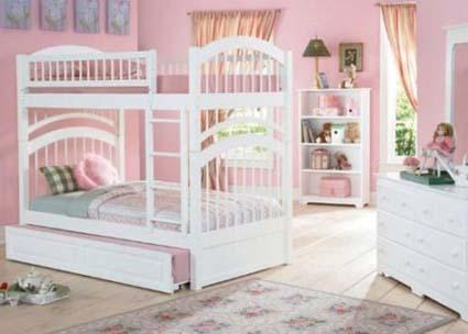 Muebles modernos en habitaciones de niñas