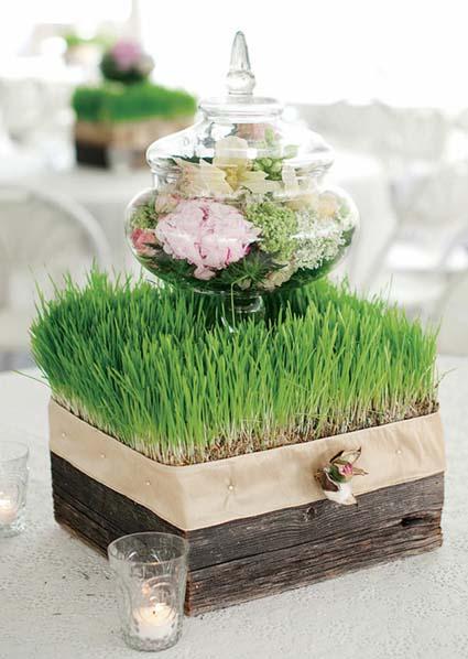 Centros de mesa nicos for Ramas blancas decoracion