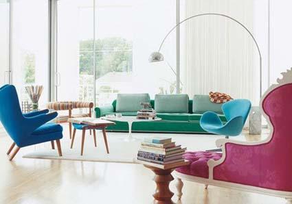 Colores vivos para tu salón