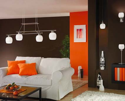 Decoraci n moderna for Decoracion para pared naranja