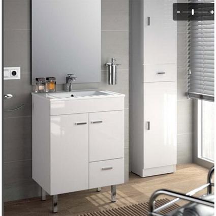 Convertir un cuarto de ba o peque o en un espacio amplio for Banos azules y grises