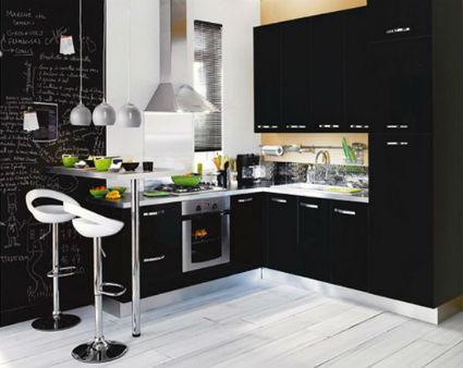 Cocinas en negro for Cocinas integrales negras