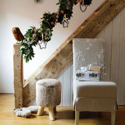 Decorar escaleras en navidad - Decoracion para escaleras ...