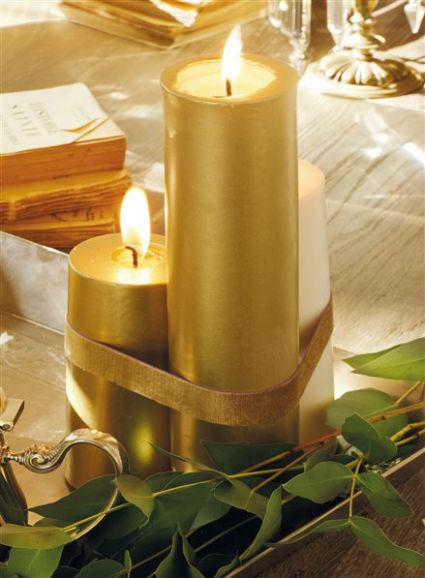 Decora la navidad con velas - Centros de navidad con velas ...
