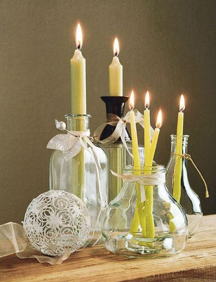 Decora la Navidad con velas