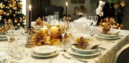 Decoración de mesas navideñas