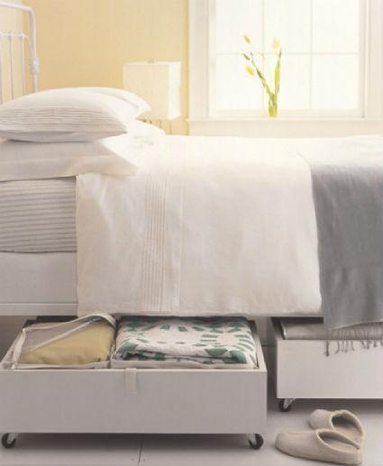 Orden y almacenamiento bajo la cama for Cajones bajo cama ikea