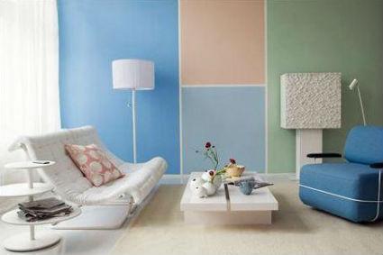 Paredes con varios colores - Formas de pintar paredes interiores ...